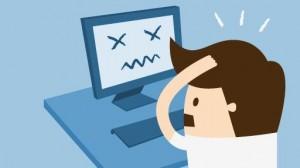 Usuário muitas vezes acha que o problema é maior do que ele realmente é.